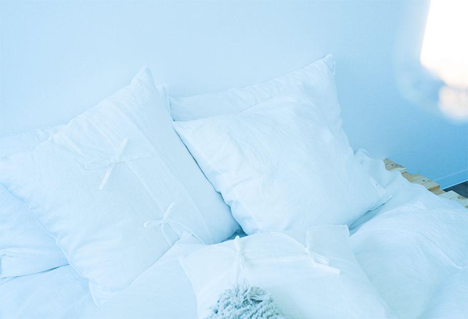 寝室 スタイリング 寝室 インテリア おしゃれ Styling01  フレンチリネン×ホワイト